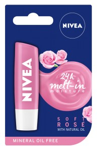 NIVEA 24h melt-in Lip Care Soft Rose 4,8g - pomadka owocowa