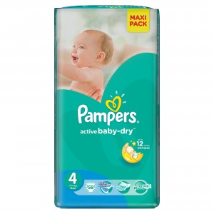 PAMPERS Active Baby 4 Maxi 7-14kg 58szt - pampersy